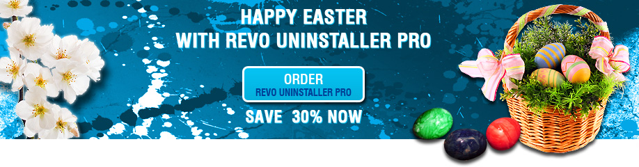 Happy Easter with Revo Uninstaller Pro -30% OFF