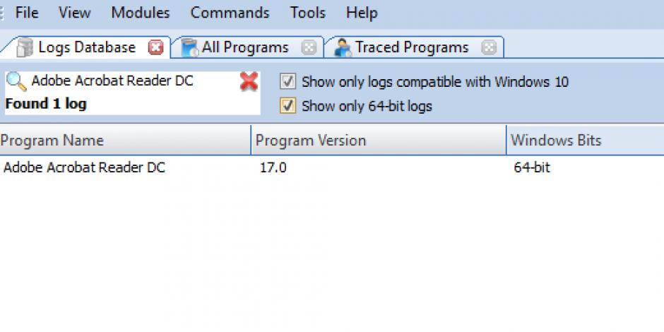 Revo Uninstaller Pro - Uninstall Adobe Acrobat Reader DC using Logs