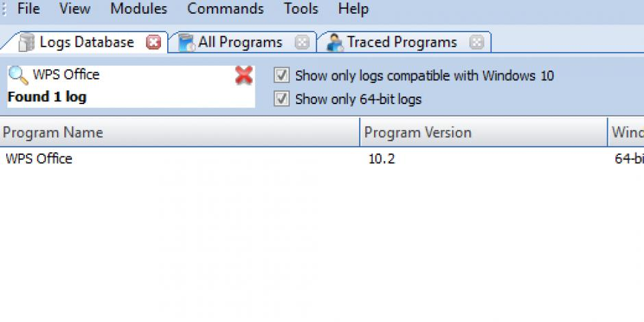 Revo Uninstaller Pro - Uninstall WPS Office using Logs Database