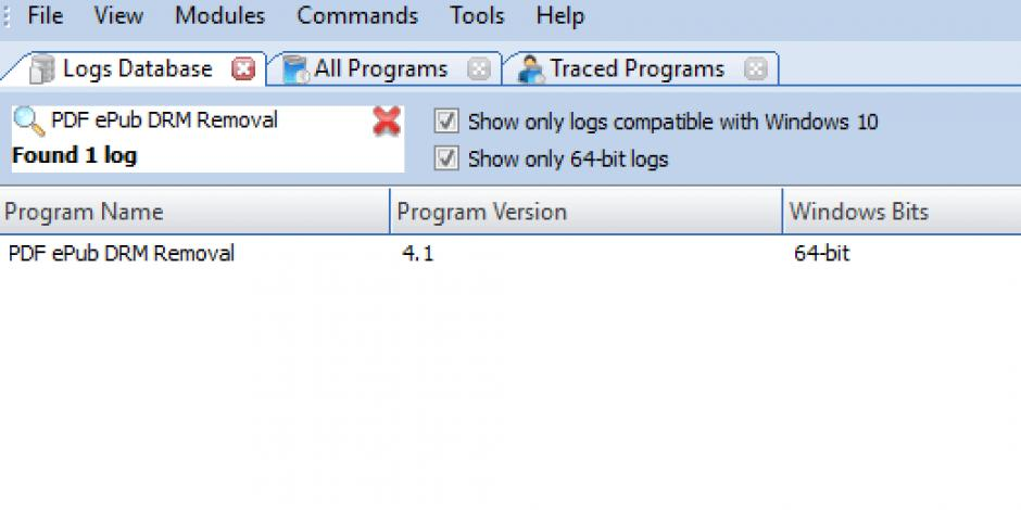 Revo Uninstaller Pro - Uninstall PDF ePub DRM Removal using Logs