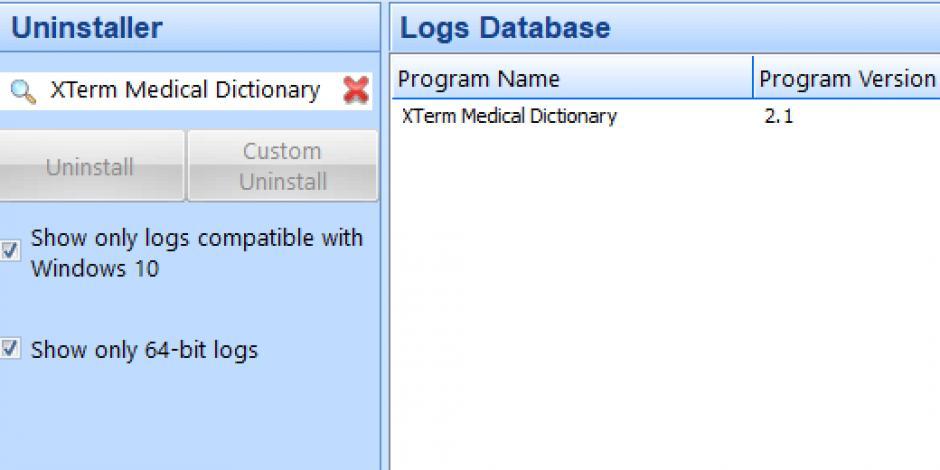 revo uninstaller pro uninstall xterm medical dictionary using logs