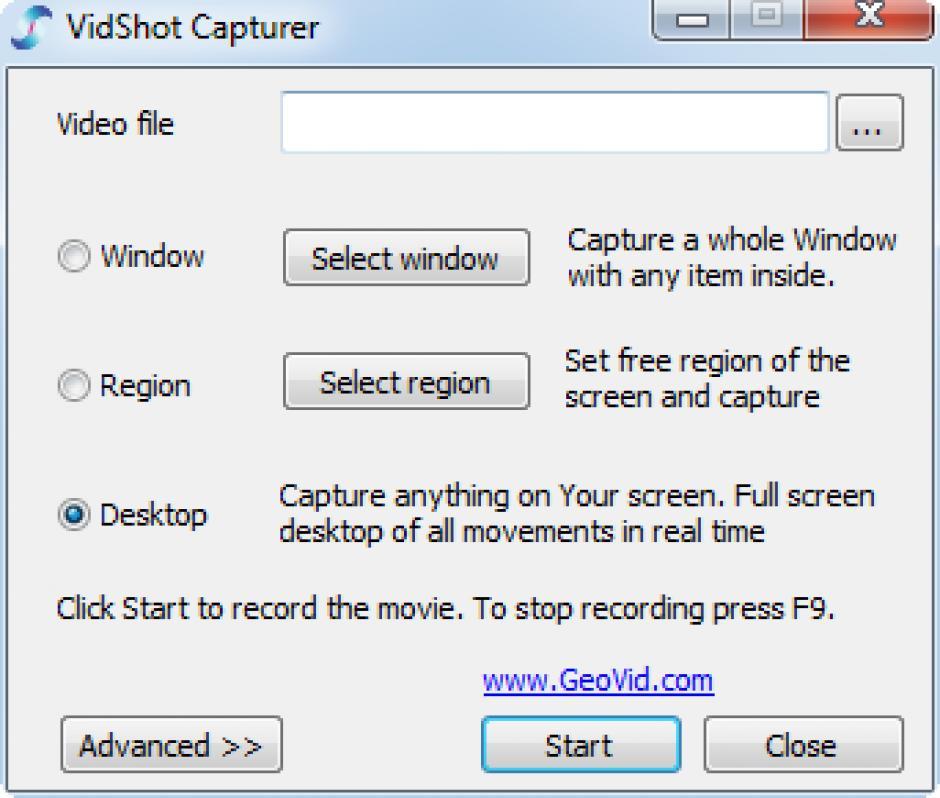 vidshot capturer