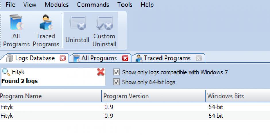 Revo Uninstaller Pro - Uninstall Fityk using Logs Database