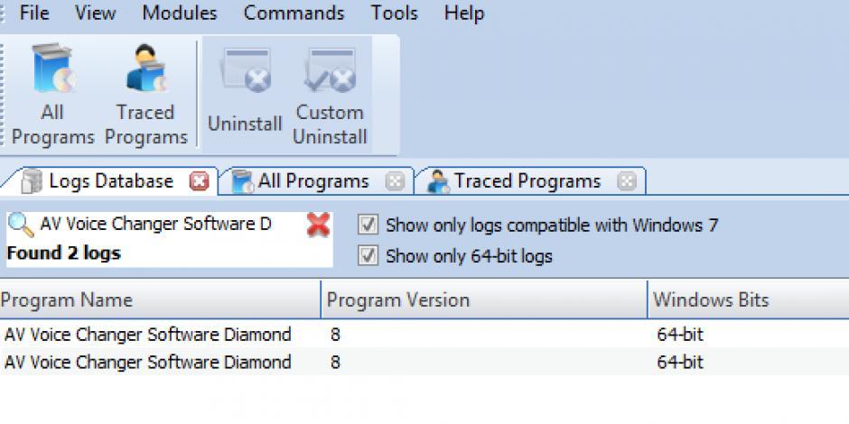 Revo Uninstaller Pro - Uninstall AV Voice Changer Software Diamond