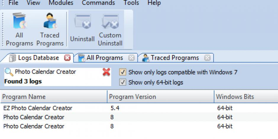 Revo Uninstaller Pro Uninstall Photo Calendar Creator Using Logs