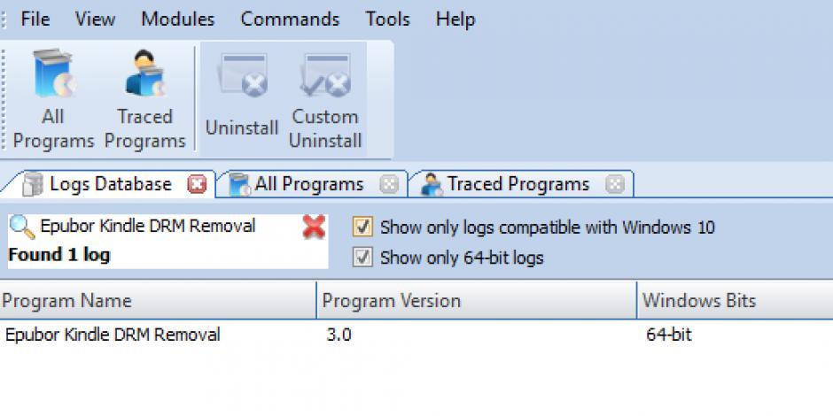 Revo Uninstaller Pro - Uninstall Epubor Kindle DRM Removal using