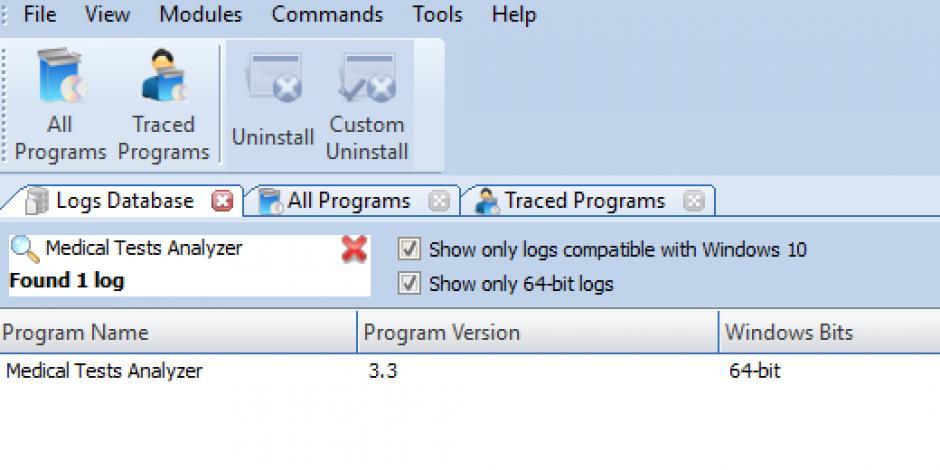revo uninstaller pro uninstall medical tests analyzer using logs