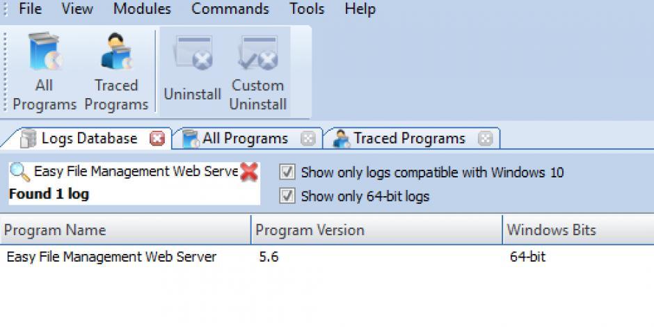 Revo Uninstaller Pro - Uninstall Easy File Management Web Server