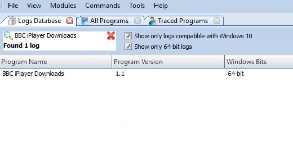 Revo Uninstaller Pro - Uninstall BBC iPlayer Downloads using