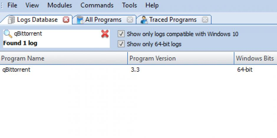 Revo Uninstaller Pro - Uninstall qBittorrent using Logs Database