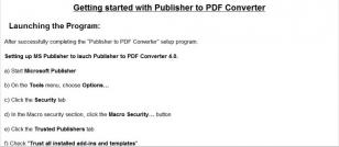 Publisher to PDF Converter main screen