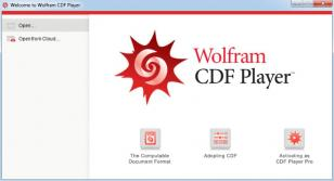 Wolfram CDF Player main screen