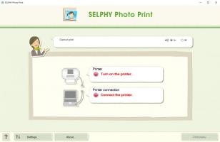 Canon Utilities SELPHY Photo Print main screen