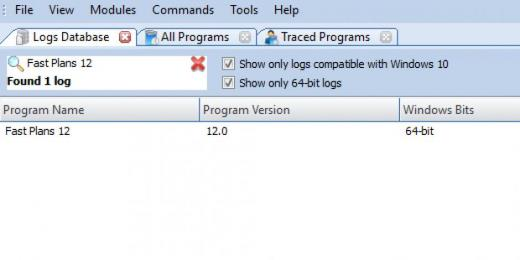 Find Fast Plans 12 in Logs Database List