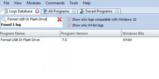 Find Format USB Or Flash Drive in Logs Database List
