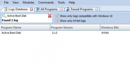 Find Active Boot Disk in Logs Database List