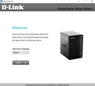 D-Link ShareCenter main screen