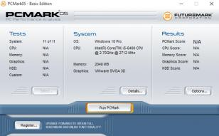 PCMark05 main screen