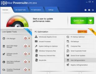 Powersuite main screen