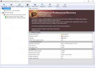 UFS Explorer Professional Recovery main screen