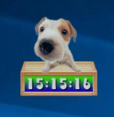 Cute Puppy Clock main screen