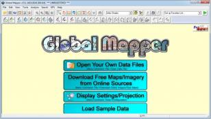 GlobalMapper main screen