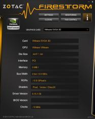 ZOTAC FireStorm main screen