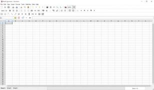 Gnumeric Spreadsheet main screen