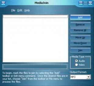 MediaJoin main screen