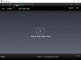 DivX main screen