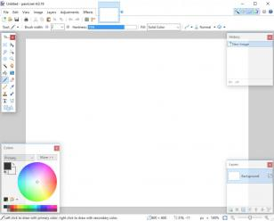 paint.net main screen