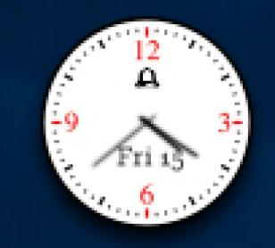 Alwact Clock main screen