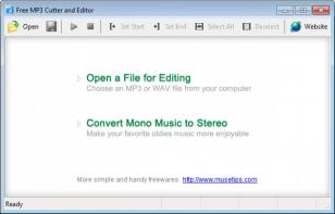 Free MP3 Cutter and Editor main screen