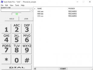 Auto Dialer Pro main screen