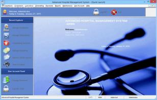 Advanced Hospital Management System main screen