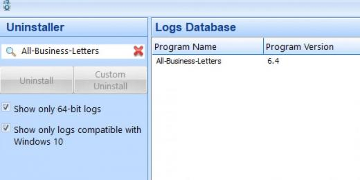Find All-Business-Letters in Logs Database List