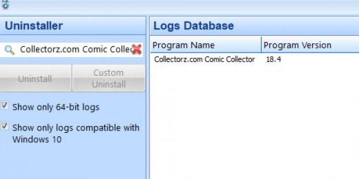 Find Collectorz.com Comic Collector in Logs Database List