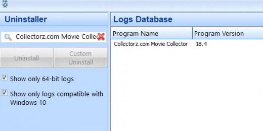 Find Collectorz.com Movie Collector in Logs Database List