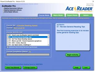 AceReader Pro main screen