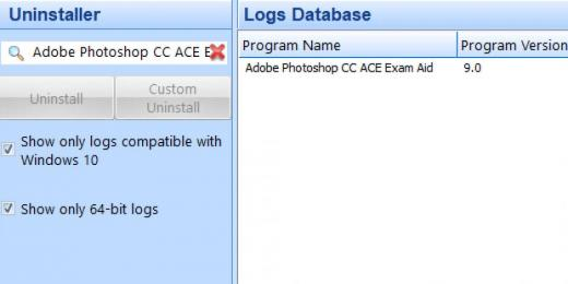 Find Adobe Photoshop CC ACE Exam Aid in Logs Database List