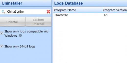 Find ChinaScribe in Logs Database List
