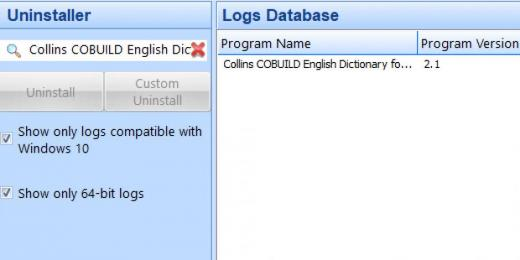 Find Collins COBUILD English Dictionary for Advanced Learners in Logs Database L