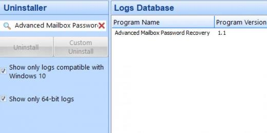 Find Advanced Mailbox Password Recovery in Logs Database List