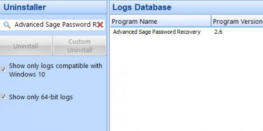 Find Advanced Sage Password Recovery in Logs Database List