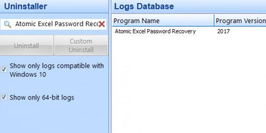 Find Atomic Excel Password Recovery in Logs Database List