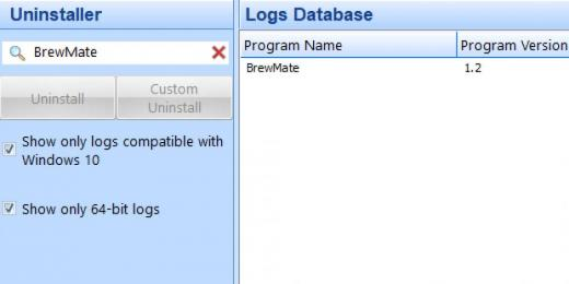 Find BrewMate in Logs Database List