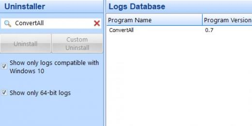Find ConvertAll in Logs Database List