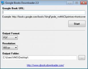 Google Books Downloader main screen