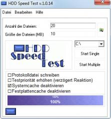 Hdd Speed Test Tool main screen