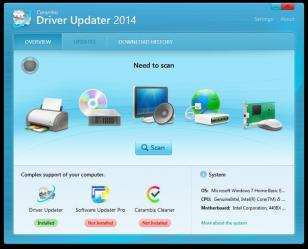 DriverUpdater main screen